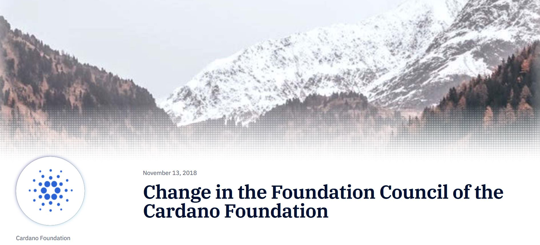 Change in the Foundation Council of the Cardano Foundation