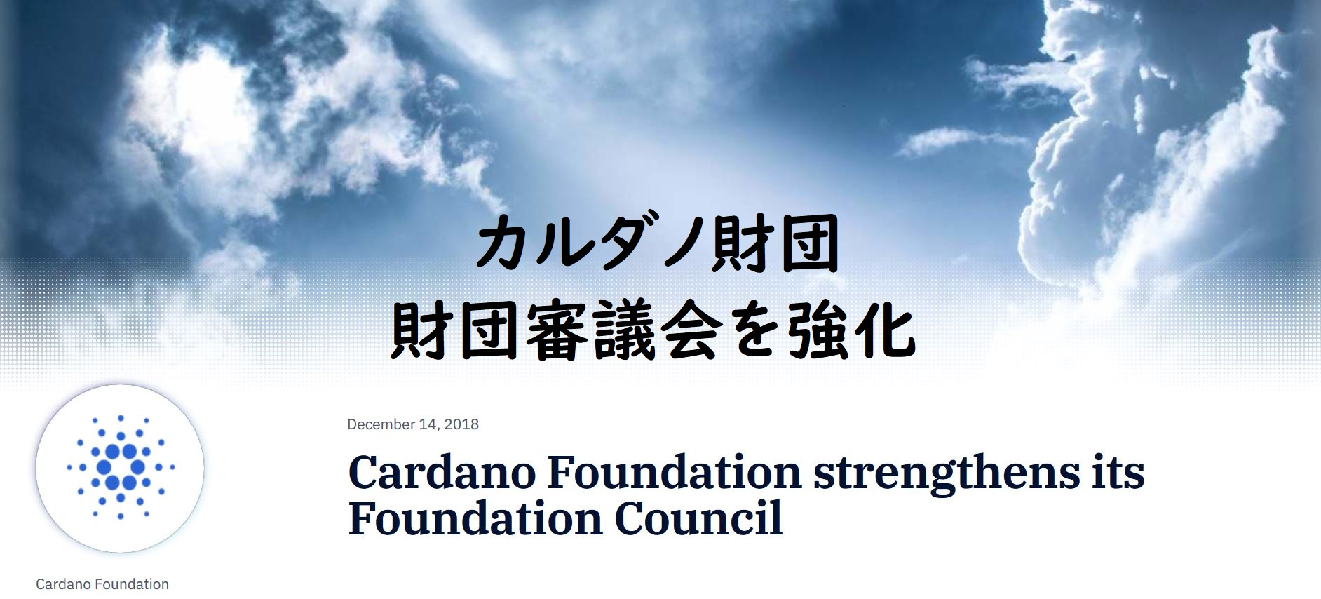Cardano Foundation strengthens its Foundation Council
