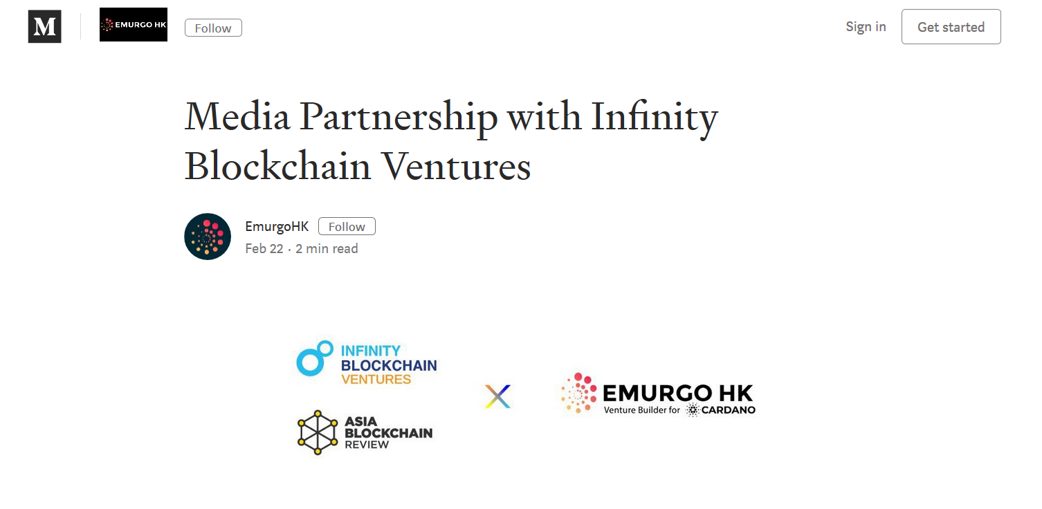 Media Partnership with Infinity Blockchain Ventures