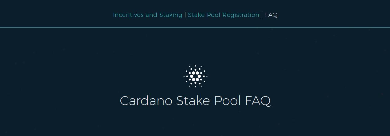 Cardano Stake Pool FAQ TOP