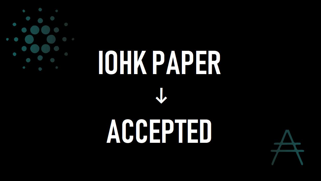 IOHKの論文がCryBlock 2019で承認!カルダノ(ADA)への信頼は上昇!