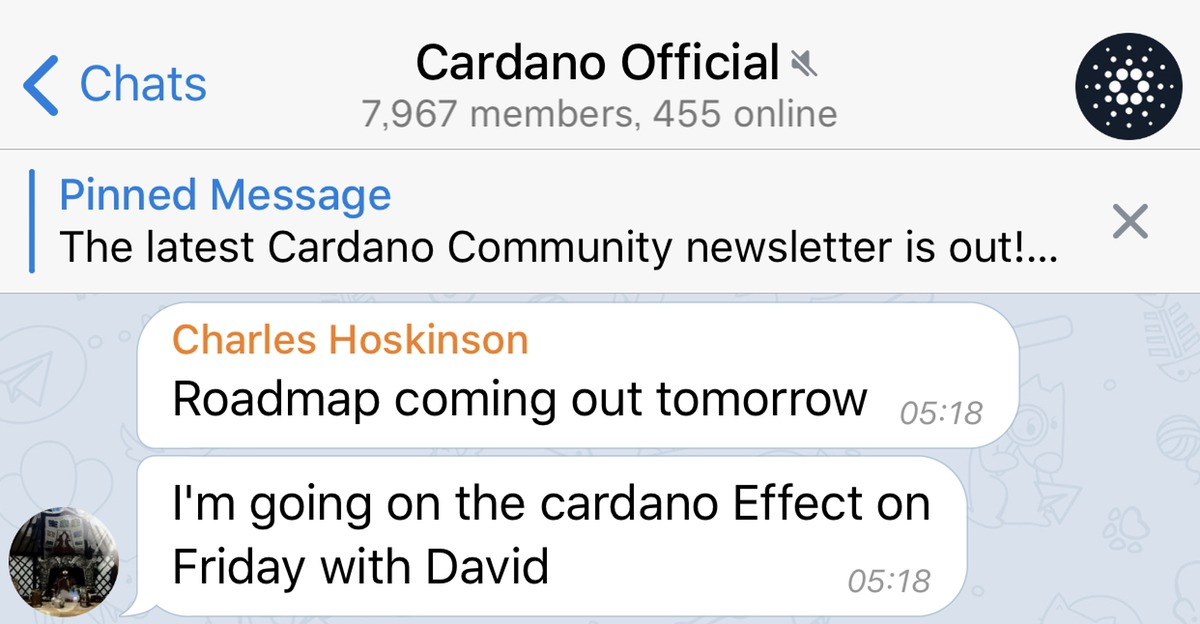 tomorrow Cardano roadmap