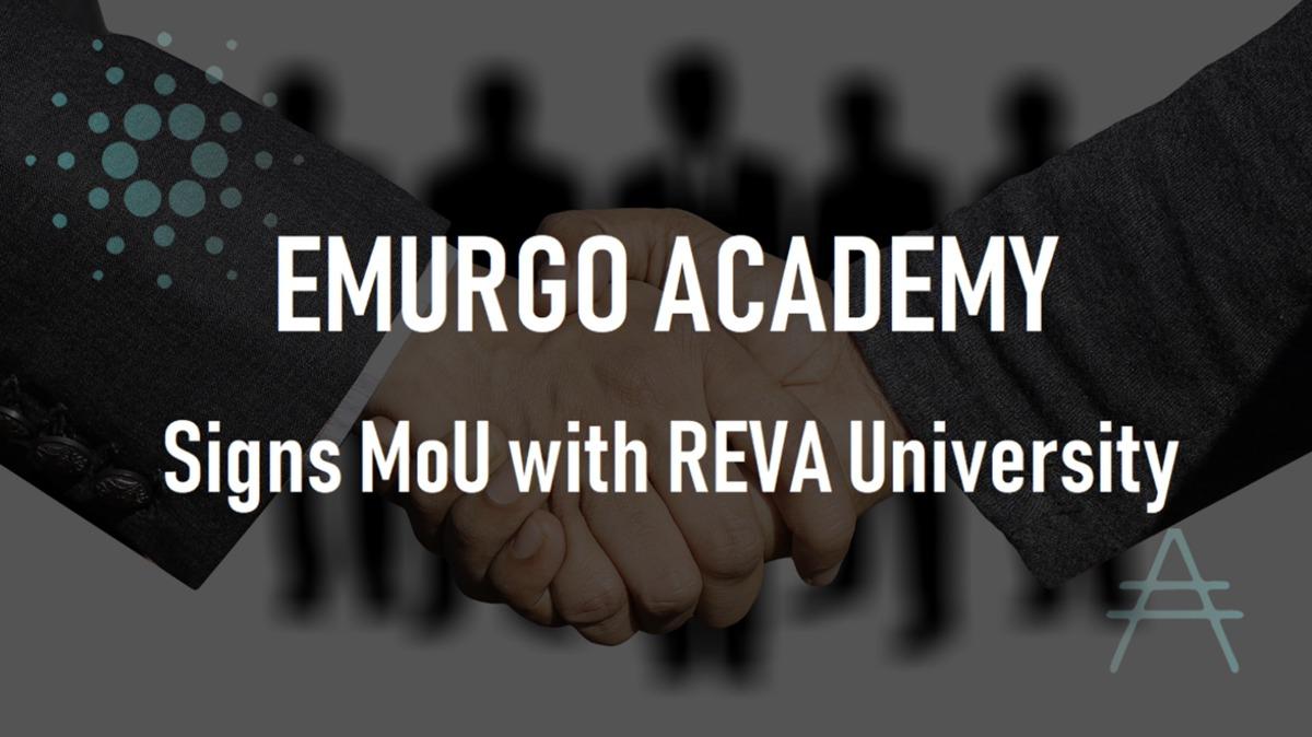 EMURGO AcademyとREVA大学がMoU締結!ブロックチェーンコース
