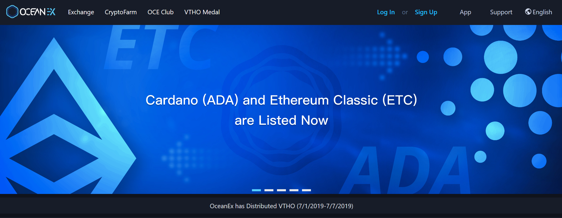 oceanex-CARDANO-ADA-Listed NOW